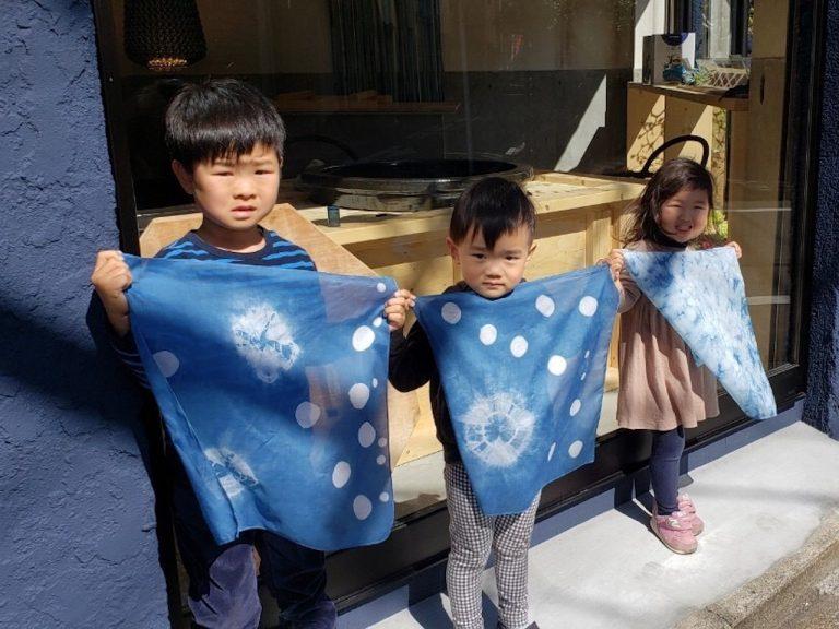 ちびっ子たちも楽しめる静岡市人宿町の藍染体験工房:人宿藍染工房