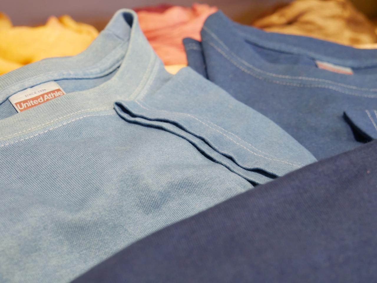 藍染半袖Tシャツ