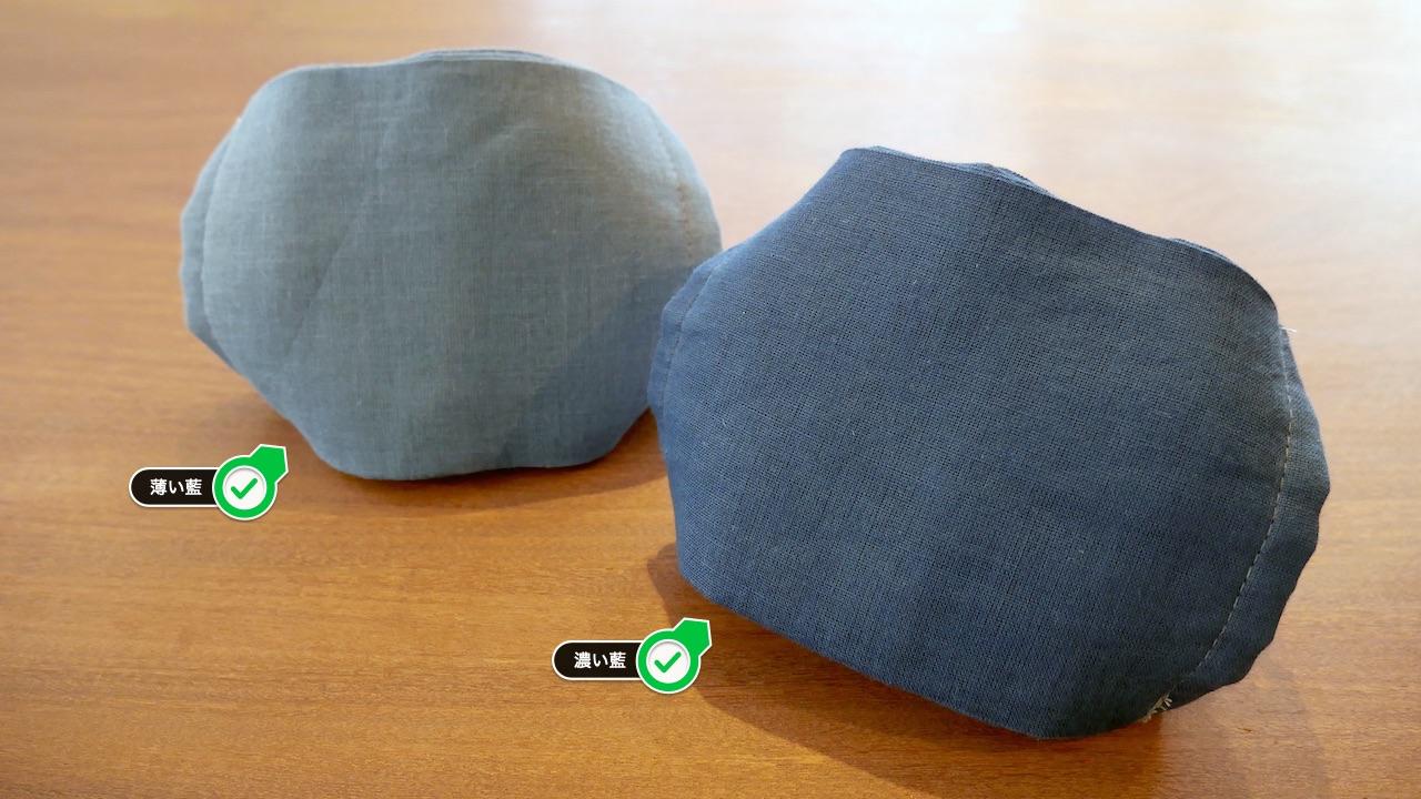 12枚重ね本藍染ガーゼマスク【販売中】:人宿藍染工房