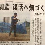 藍畑の様子を取材していただきました!6/7の静岡新聞朝刊をご覧ください