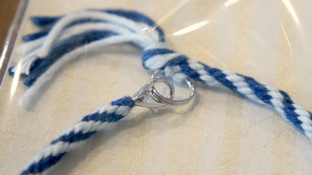 人宿藍染工房オリジナル:藍染ブレスレット900円